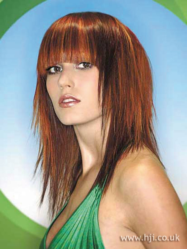 2006 red layered hairstyle