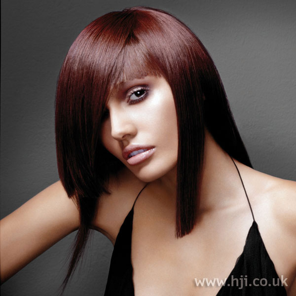 2006 red long hairstyle