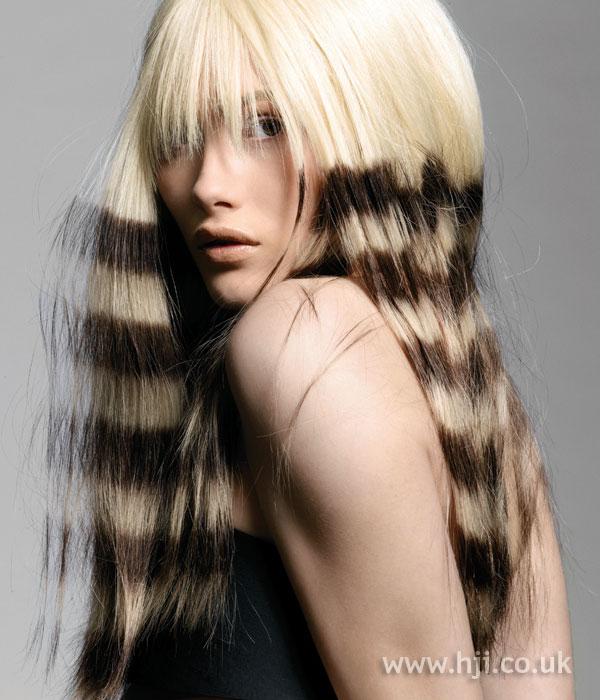 Trevor Sorbie Artistic Team stripy straight hair