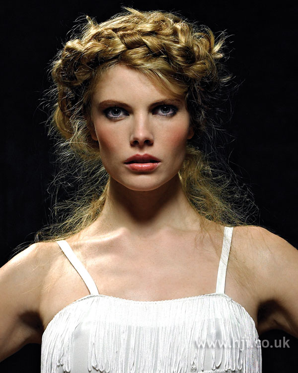 2006 plaited updo hairstyle