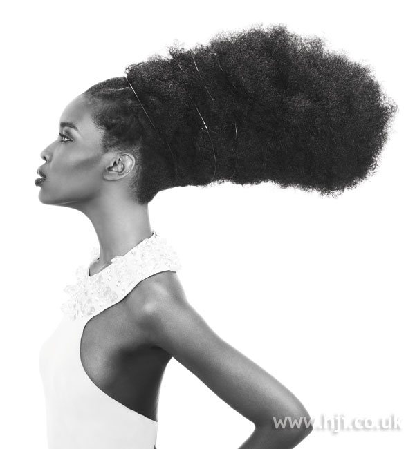 2008 sculpted afro