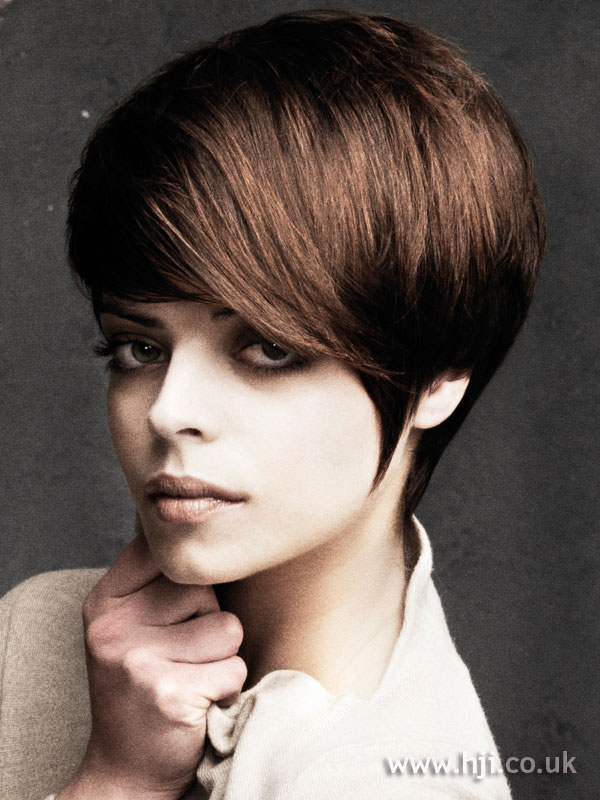 2009 brunette short hairstyle