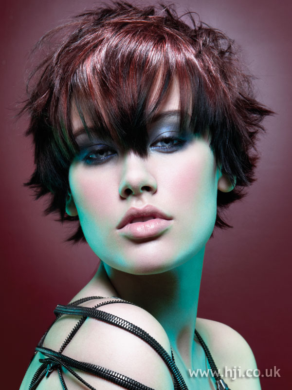 2009 red fringe hairstyle