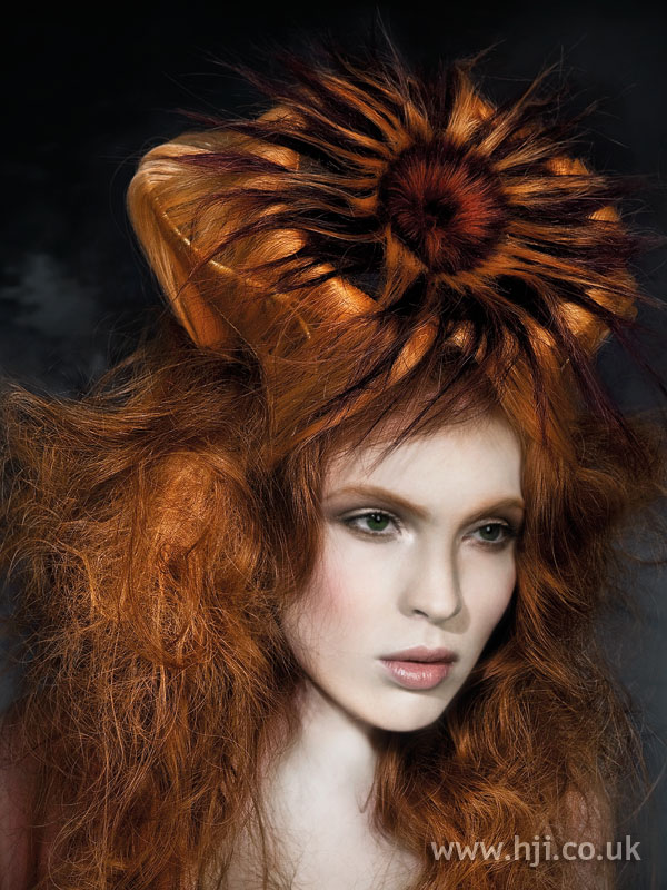 2009 redhead texture hairstyle
