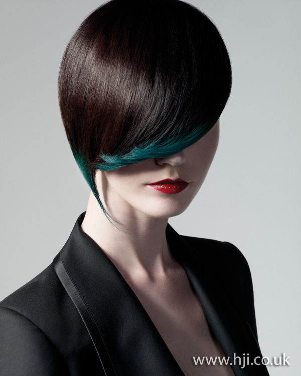 Asymmetric short hairstyle- 2011