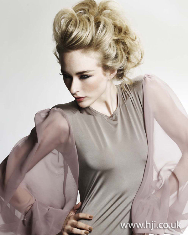 blonde curly updo hairstyle - 2011