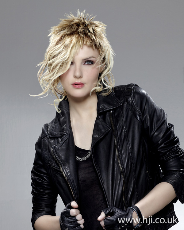 Blonde punk hairstyle