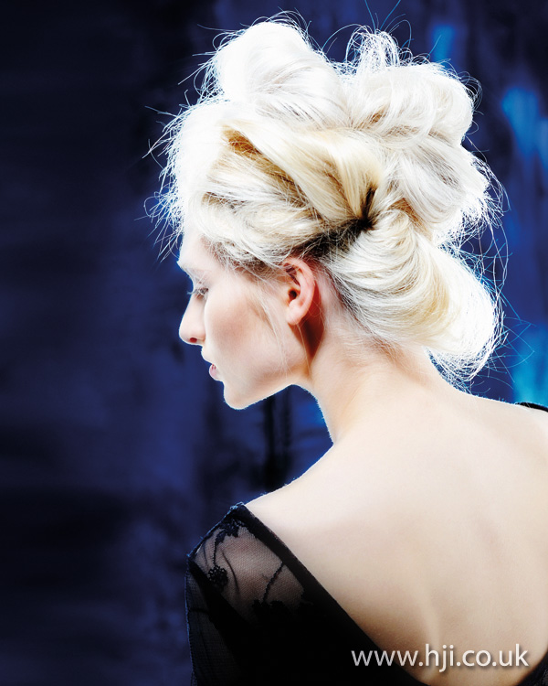 blonde texture updo hairstyle 2011