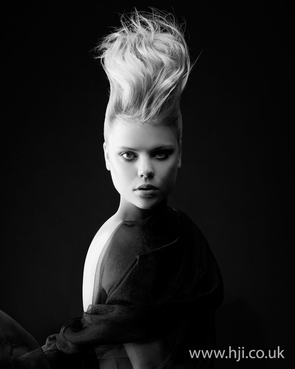 blonde updo hairstyle- 2011