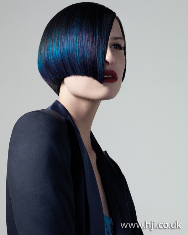 Blue bob hairstyle - 2011