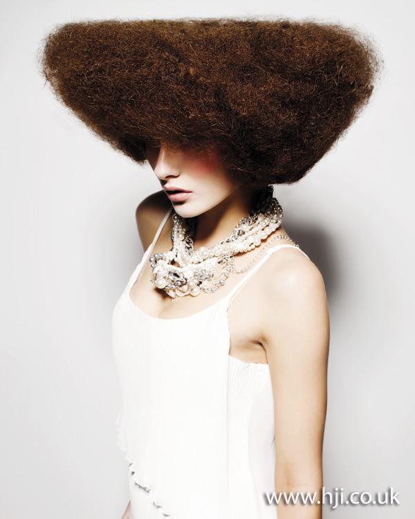 2011 brunette afro