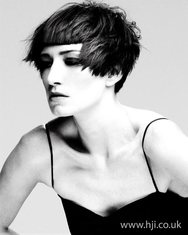 runette crop hairstyle 2011
