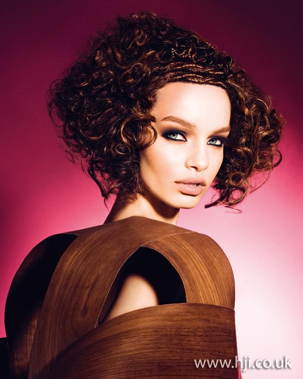 brunette curls hairstyle 2011