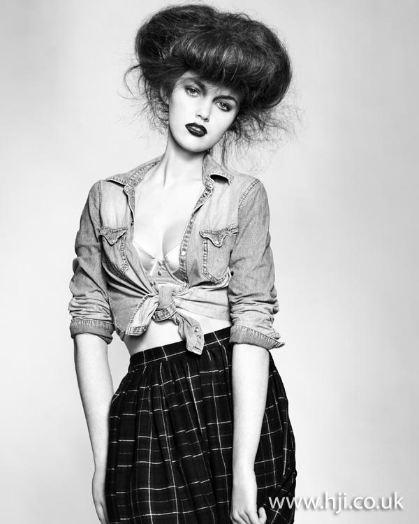 2011 brunette long updo