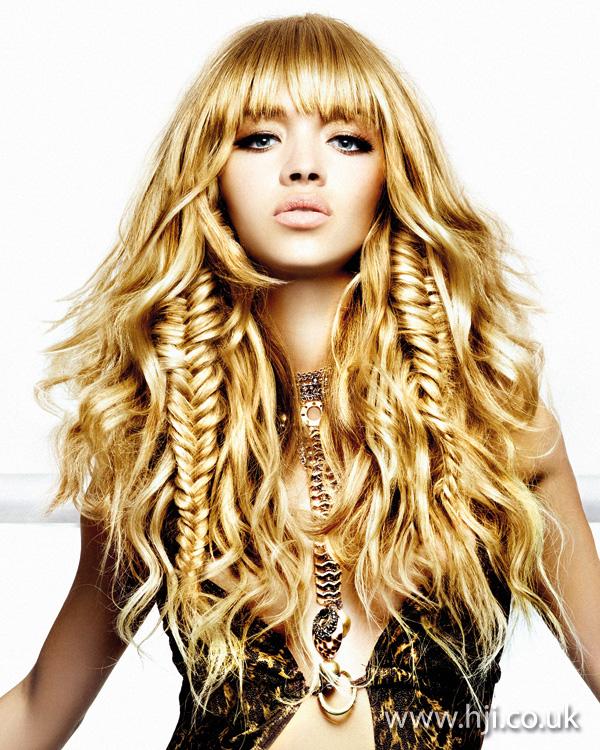 2011 fishtail blonde curls