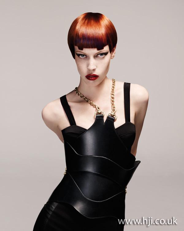 geometric fringe hairstyle