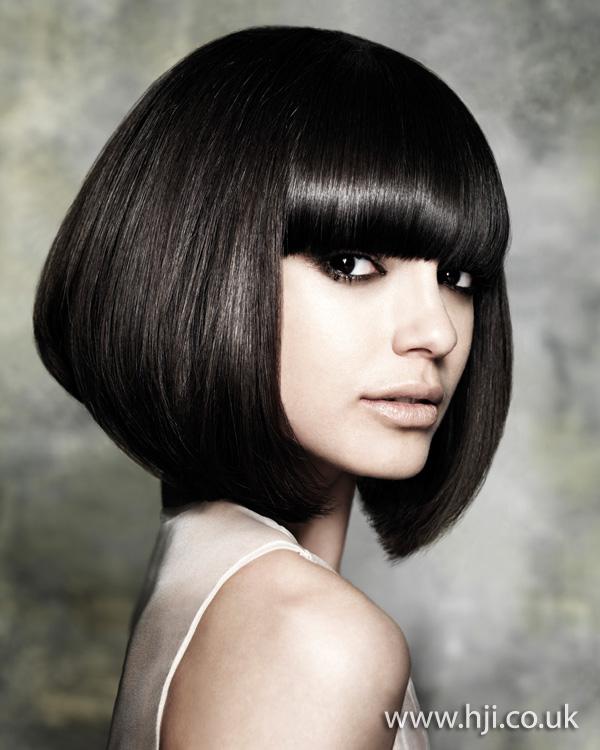 Glossy bob hairstyle