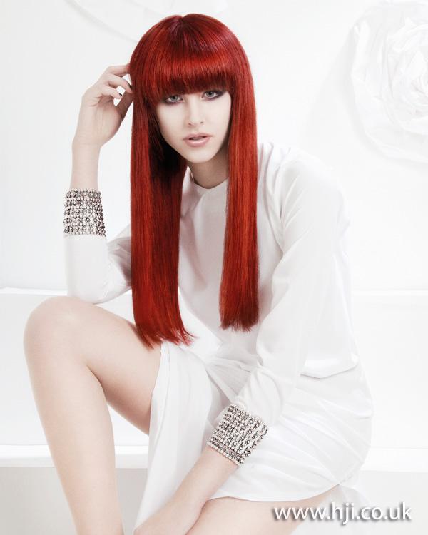 Sleek red long hair by Angela Lowery