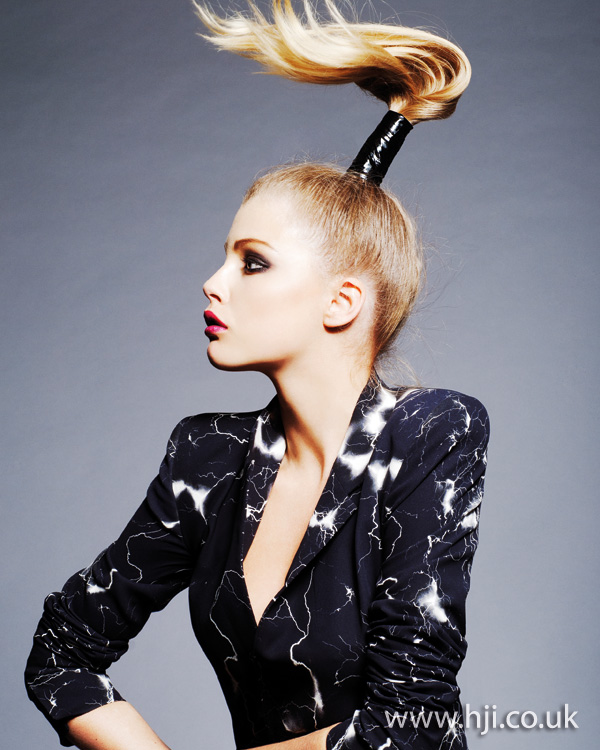 high ponytail hairstyle - 2011