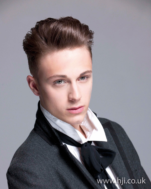 Slick mens hairstyle by JAS Hair Group creative team
