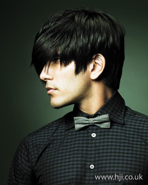 mens dark texture hairstyle