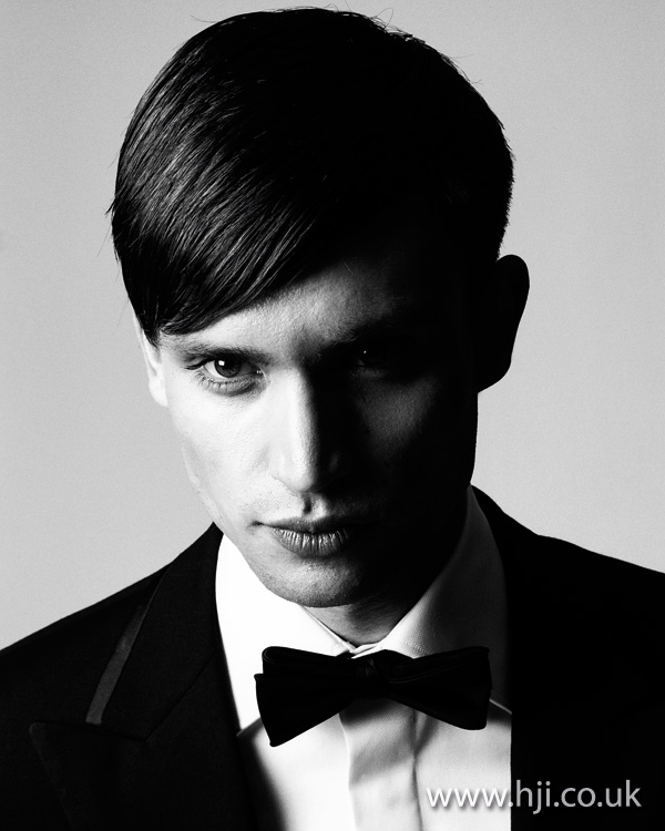 mens formal fringe hairstyle