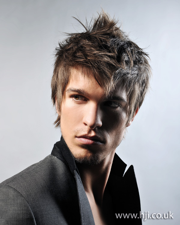 Mens heavy texture hairstyle