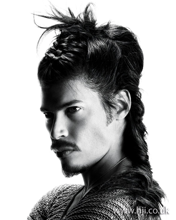 Mens Samurai long hairstyle