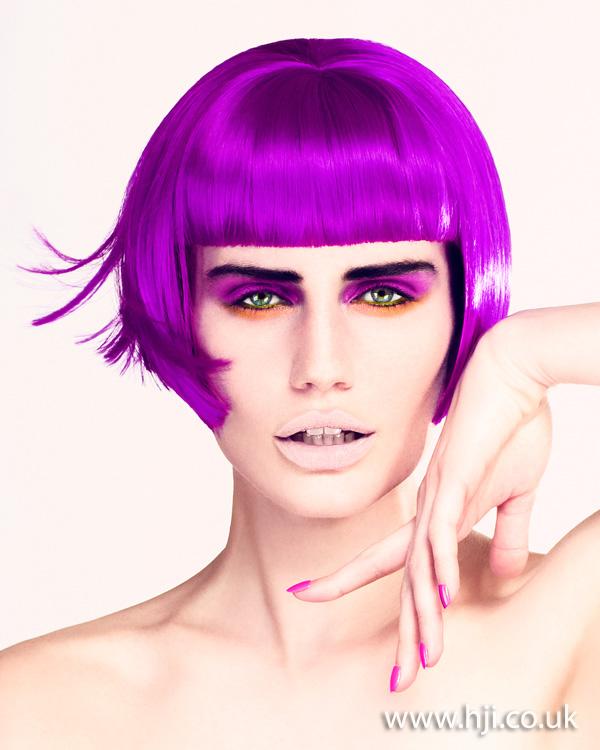 Sleek purple bob by Martin Crean