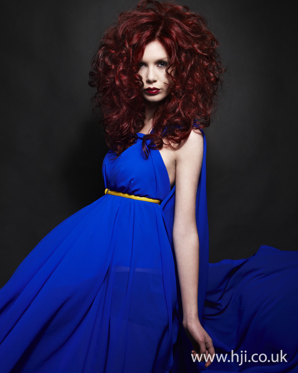 Curly red hairstyle by Nick Ford