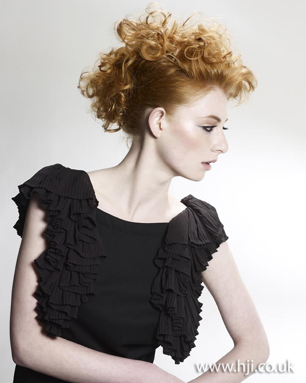 red curly updo hairstyle 2011