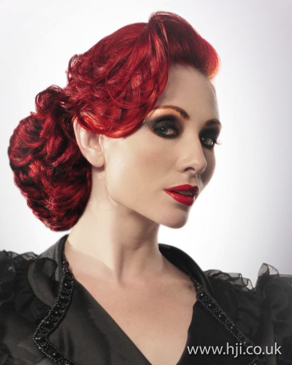 Red quiff hairstyle