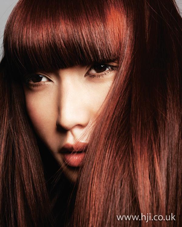 Sleek red style by Chumba Concept Salon artistic team