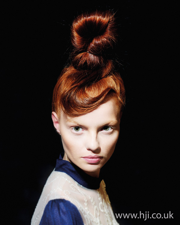 red updo hairstyle 2011