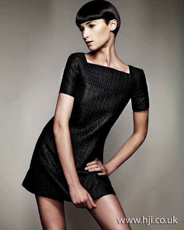 shiny black bob hairstyle - 2011