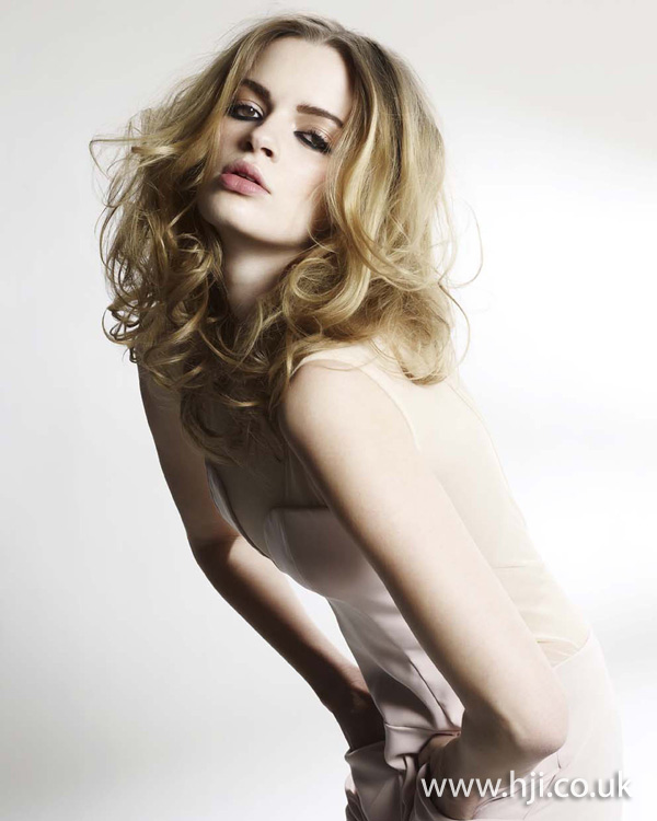 Soft blonde curls by the Clynol Protege team
