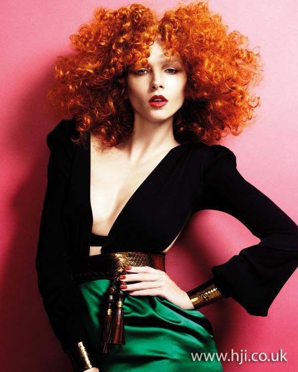2011 vibrant redhead curls