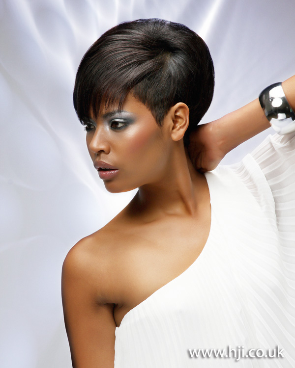 2012 afro smooth brunette womens haircut