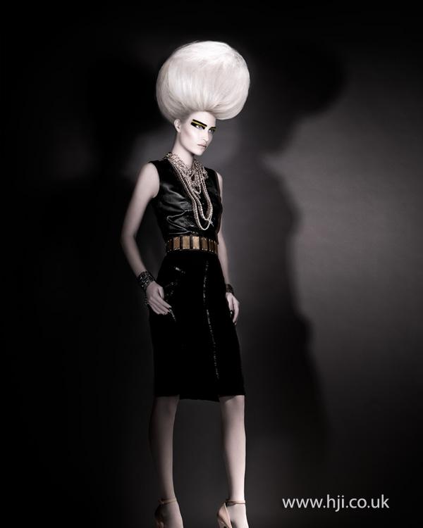 2012 avant garde blonde sphere hairstyle