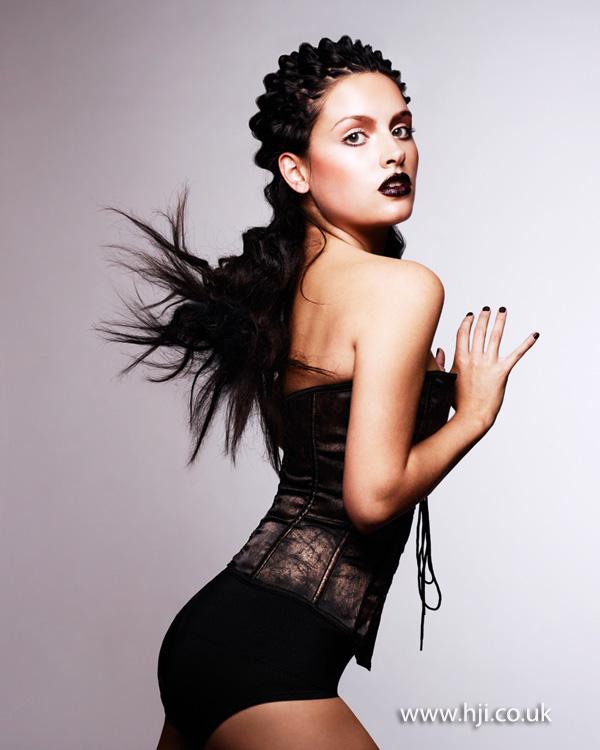 2012 avant garde braided textured womens hairstyle