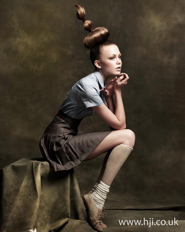 2012 avant garde updo womens hairstyle