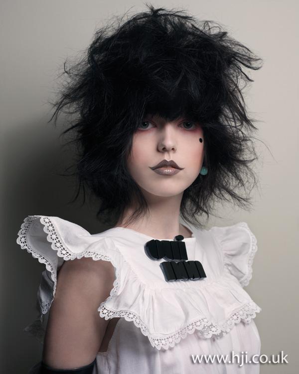2012 backcombed black