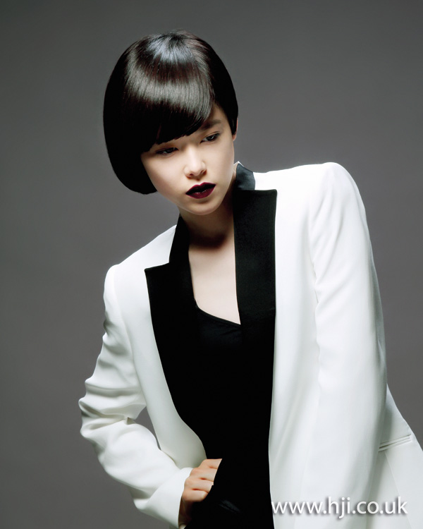 black bob hairstyle from 2012
