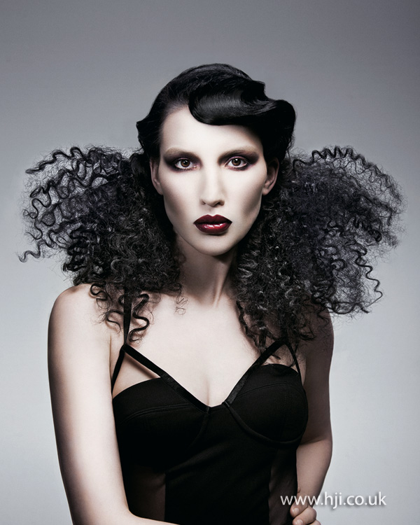 2012 black corkscrew curls womens hairstyle