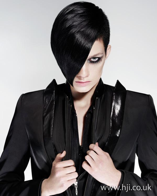 2012 black side fringe womens hairstyle