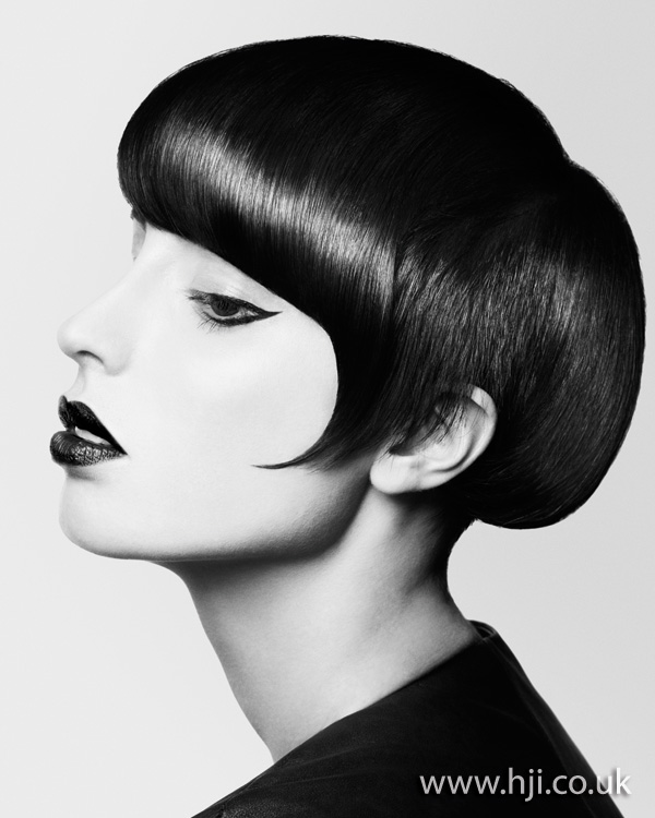 2012 black sleek short womens hairstyle