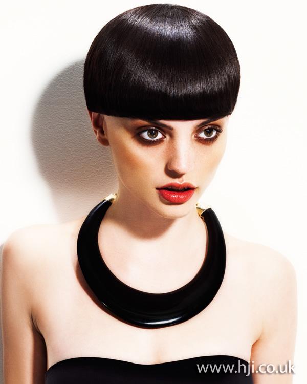 2012 black straight graphic womens short hairstyle