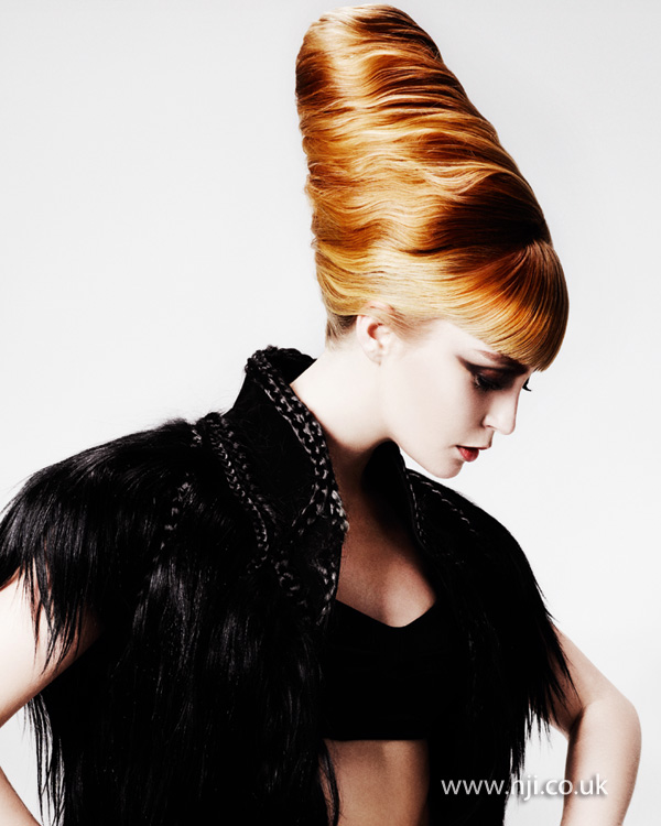 2012 blonde and copper hair tower womens hairstyle