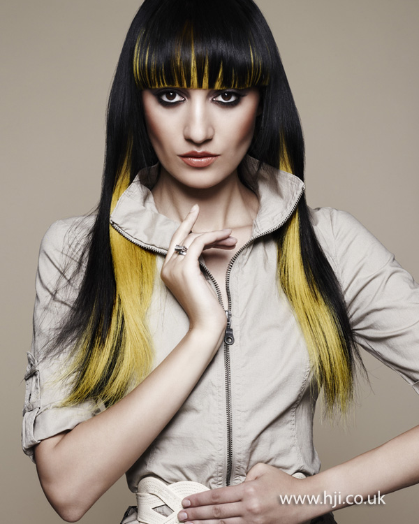 2012 blonde and yellow womens long straight hair