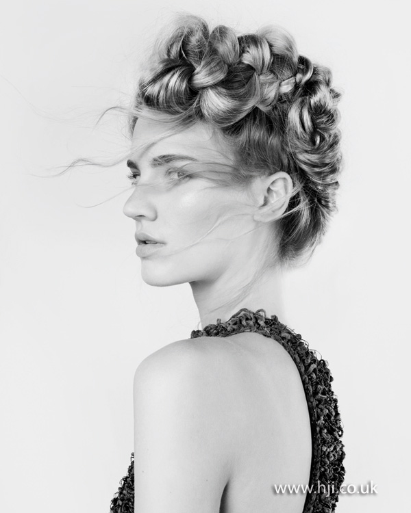 2012 blonde curls hair up womens hairstyle